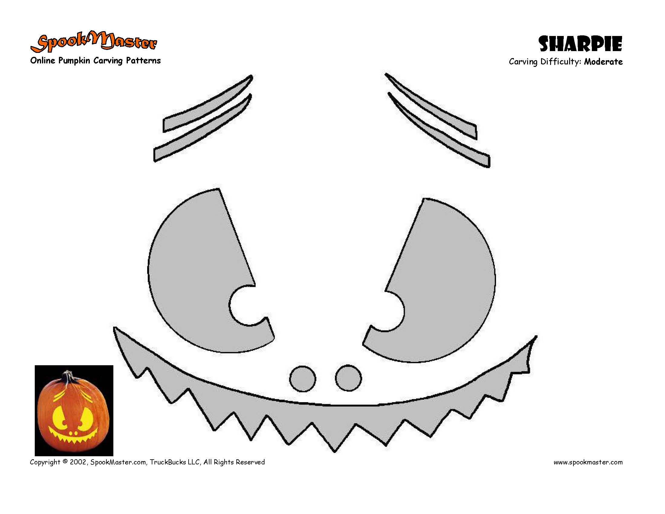 Free Pumpkin Carving Patterns and Free Pumpkin Carving Stencils by ...