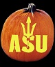 ARIZONA STATE SUN DEVILS PUMPKIN CARVING PATTERN