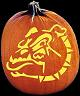SPOOKMASTER BULLDOG DOG PUMPKIN CARVING PATTERN