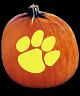 CLEMSON TIGERS PUMPKIN CARVING PATTERN