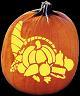 SPOOKMASTER THANKSGIVING CORNUCOPIA PUMPKIN CARVING PATTERN