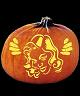 SPOOKMASTER DAMSEL IN DISTRESS PUMPKIN CARVING PATTERN