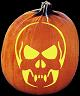 SPOOKMASTER DEAD MAN WALKING SKULL PUMPKIN CARVING PATTERN