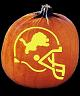 SPOOKMASTER NFL FOOTBALL DETROIT LIONS PUMPKIN CARVING PATTERN