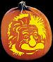 SPOOKMASTER ALBERT EINSTEIN PUMPKIN CARVING PATTERN