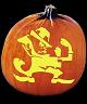 SPOOKMASTER FIGHTING IRISH LEPERCHAUN NOTRE DAME PUMPKIN CARVING PATTERN