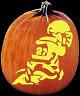 FOOTBALL PUMPKIN CARVING PATTERN