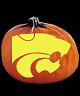 KANSAS STATE WILDCATS PUMPKIN CARVING PATTERN