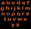 SPOOKMASTER LOWER CASE LETTERS PUMPKIN CARVING PATTERN