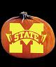 MISSISSIPPI STATE BULLDOGS PUMPKIN CARVING PATTERN