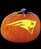 SPOOKMASTER NFL FOOTBALL NEW ENGLAND PATRIOTS PUMPKIN CARVING PATTERN