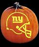 SPOOKMASTER NFL FOOTBALL NEW YORK GIANTS PUMPKIN CARVING PATTERN