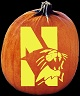 NORTHWESTERN WILDCATS PUMPKIN CARVING PATTERN