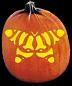 PSYCHADELIC BUTTERFLY PUMPKIN CARVING PATTERN