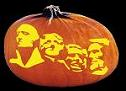 SPOOKMASTER MOUNT RUSHMORE PUMPKIN CARVING PATTERN