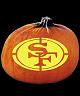 SPOOKMASTER NFL FOOTBALL SAN FRANCISCO 49ERS PUMPKIN CARVING PATTERN
