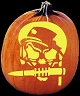 SOLDIER OF MISFORTUNE PUMPKIN CARVING PATTERN