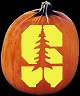 STANFORD CARDINAL PUMPKIN CARVING PATTERN