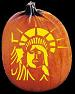SPOOKMASTER STATUE OF LIERTY PUMPKIN CARVING PATTERN