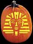 SPOOKMASTER 	KING TUT PUMPKIN CARVING PATTERN