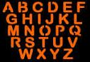SPOOKMASTER UPPER CASE LETTERS PUMPKIN CARVING PATTERN