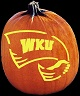 WESTERN KENTUCKY HILLTOPPERS PUMPKIN CARVING PATTERN