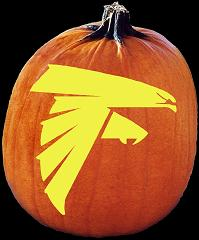 SPOOKMASTER NFL FOOTBALL ATLANTA FALCONS PUMPKIN CARVING PATTERN