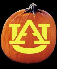 Spookmaster Auburn Tigers College Football Pumpkin Carving Pattern