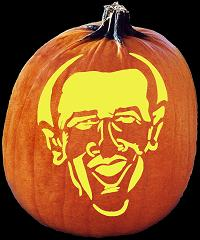 SpookMaster Barack Obama Pumpkin Carving Pattern