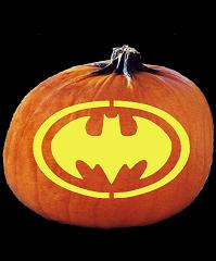 SPOOKMASTER BATMAN BAT SYMBOL BAT SIGNAL PUMPKIN CARVING PATTERN