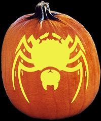 SPOOKMASTER BLACK WIDOW SPIDER PUMPKIN CARVING PATTERN
