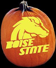 SPOOKMASTER BOISE STATE BRONCOS PUMPKIN CARVING PATTERN
