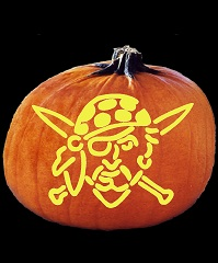 SpookMaster Buccaneer Pirate Pumpkin Carving Pattern