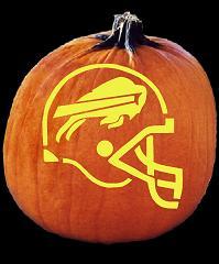 Spookmaster Nfl Football Buffalo Bills Helmet Pumpkin Carving