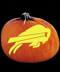 SPOOKMASTER NFL FOOTBALL BUFFALO BILLS PUMPKIN CARVING PATTERN