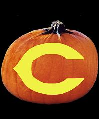 Spookmaster Nfl Football Chicago Bears Pumpkin Carving Pattern