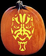 SpookMaster Darth Maul Pumpkin Carving Pattern