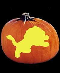 spookmaster nfl football detroit lions pumpkin carving pattern rh spookmaster com  detroit lions pumpkin carving patterns