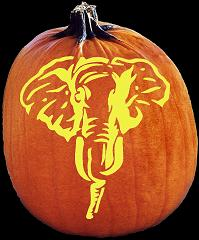 Master Republican Party Elephant Pumpkin Carving Pattern
