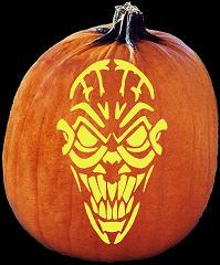 Spookmaster fiend skull alien pumpkin carving pattern for Alien pumpkin pattern