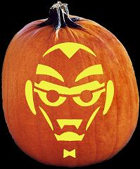 SpookMaster The Geek Pumpkin Carving Pattern