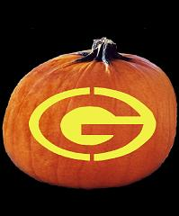 SPOOKMASTER NFL FOOTBALL GREEN BAY PACKERS PUMPKIN CARVING PATTERN