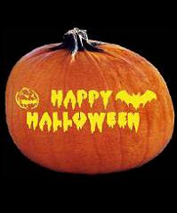 Spookmaster Happy Halloween Pumpkin Carving Pattern Jack O Lantern