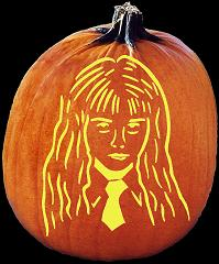spookmaster hermione granger harry potter pumpkin carving pattern jack o lantern free pumpkin carving patterns stencils and templates