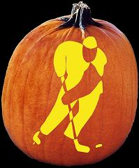 SPOOKMASTER HOCKEY PUMPKIN CARVING PATTERN