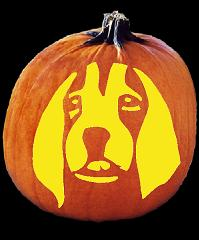 SPOOKMASTER BEAGLE DOG PUMPKIN CARVING PATTERN