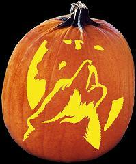 Free Printable Gangnam Style PSY Pumpkin Carving Pattern Howling Wolf