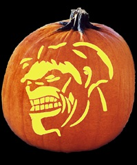 SPOOKMASTER INCREDIBLE HULK PUMPKIN CARVING PATTERN