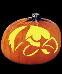 SPOOKMASTER IOWA HAWKEYES PUMPKIN CARVING PATTERN