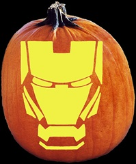 SPOOKMASTER IRON MAN PUMPKIN CARVING PATTERN
